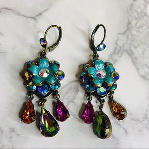 KIRKS FOLLEY Whimsical Floral Crystal Earrings